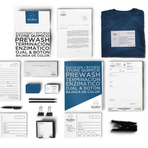 Branding design for Balboa, an industrial laundry